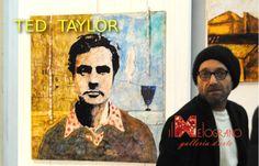Ted Taylor durante il venissage della sua personale alla galleria Il Melograno http://artelivorno.it/2014/02/12/ted-taylor-ricercando-pittura-personale-alla-galleria-il-melograno-livorno-2202-2802/?nggpage=2