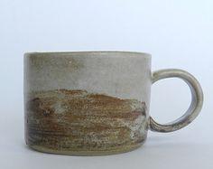 Ceramic cup, ceramics and pottery, coffee mug, landscape design, horizon, handmade, made to order