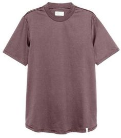 H&M - T-shirt with Ribbing - Dark brown - Men