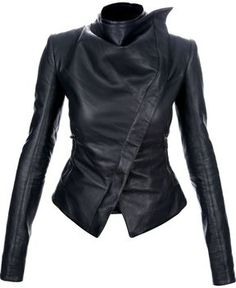 DashX BYB Womens Long Sleeve Full Zipper Leather Jacket Black