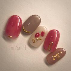 Tan Nails, Cute Nails, Hair And Nails, Minimalist Nails, Tan Nail Designs, Japan Nail Art, Perfect Nails, Nail Arts, Nail Inspo