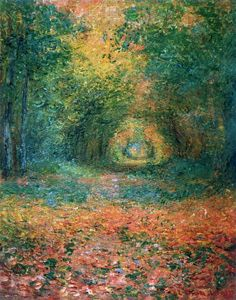 Claude Monet - The Undergrowth in the Forest of Saint-Germain (1882)