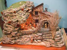 Nativity Creche, Christmas Nativity Scene, Nativity Sets, Model Trains, Wood Carving, Diorama, Cribs, Fountain, Image
