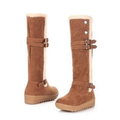 Stylish & Comfortable Strap Buckles Snow Boots