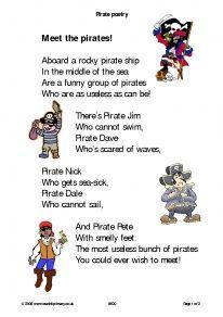 children.poem pirates - Hledat Googlem
