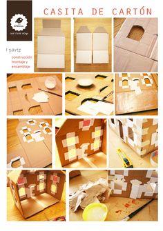 Cardboard Dollhouse, Dollhouse Toys, Cardboard Paper, Diy Paper, Dollhouse Miniatures, Paper Crafts, Diy Crafts Love, Crafts For Kids, Kids Doll House