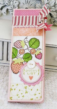 Take Note Revisited - Embellished Grocery List by Melissa Phillips for Papertrey Ink (June 2013)