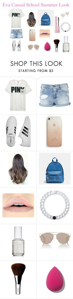 """""""Eva's Look"""" by polyvoreuserofficial ❤ liked on Polyvore featuring Victoria's Secret, Armani Jeans, adidas, Rebecca Minkoff, Coach, Lokai, Essie, Christian Dior, Clinique and AK Anne Klein"""