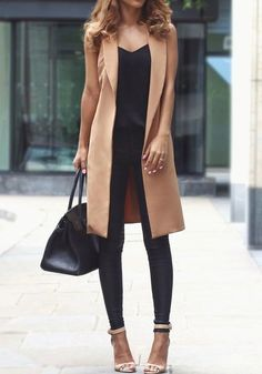 Take a look at the best what leggings to wear with dress in the photos below and get ideas for your outfits! Classy Outfits, Chic Outfits, Fall Outfits, Fashion Outfits, Fall Dresses, Vest Outfits For Women, Clothes For Women, Vest Coat, Work Fashion