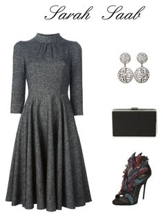 Elegant✨ by sarasaab on Polyvore featuring polyvore fashion style Dolce&Gabbana Giuseppe Zanotti Jessica McClintock Christian Dior clothing