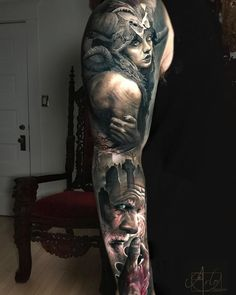 Thinking of getting an arm sleeve tattoo but unsure on what to get? Here are 10 great sleeves we have discovered on Pinterest. All tattoo's are found on the internet and are not made from us here at Kustom Ink. https://www.kustomink.net/single-post/Kustom-Inks-Discovery-10-Epic-Arm-Sleeves