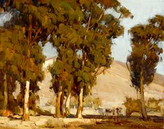 paintingbox:  Edgar Alwin Payne, (1883 - 1947). Eucalyptus Landscape. Oil on canvas. 16 x 19.75 in.