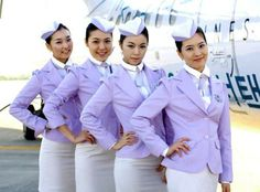 Stewardesses from All Over the World South Korea, T'way Airlines