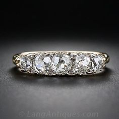 Victorian Five-Stone Diamond Ring I love how the stones are cut and set in this ring. It looks like giant rain drops all arranged in a line across your finger.