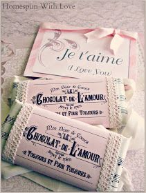 Homespun With Love: Romantic Chocolate Valentine Gift - Free Printables