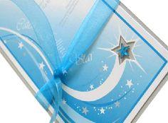 Star Wedding Invitation Theme with Blue Ribbon