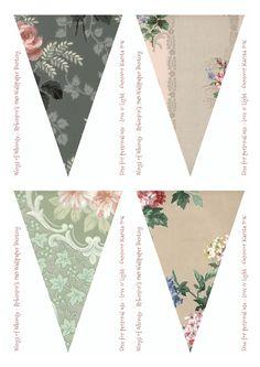 Wings of Whimsy: Robinson Vintage Wallpaper Flags #vintage #ephemera #freebie…