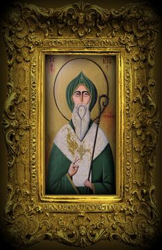 Saint Patrick Icon Giclee Print by Tim Campbell by TimCampbellArt