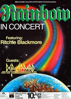Rainbow Concert Poster https://www.facebook.com/FromTheWaybackMachine/