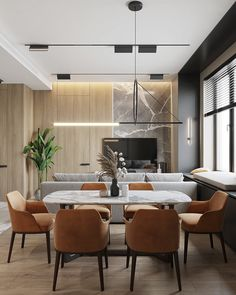 Interior of the living room and kitchen in Moscow on Behance Living Tv, Living Room Sofa, Small House Interior Design, House Design, Twin Girl Bedrooms, Zen House, Home Comforts, Dining Room Design, Apartment Design