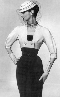 Jean Patchett in Dior, 1951.  Gorgeous!