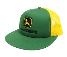 John Deere Green and Yellow HI-Crown Cap