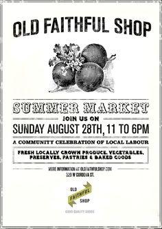 Old Faithful Farmers Market | Victory Gardens