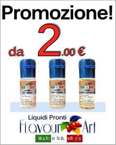 #promozione ed #offerte #liquidisigarettaelettronica #flavourart , con #smookiss ottieni #saldi e qualità con i #prezzi più bassi