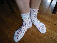Fireworks Socks - knitting by Anna Zilboorg