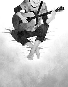Pictures of anime music boy guitar - Manga Kawaii, Manga Anime, Anime Art, Guitar Drawing, Guitar Art, Anime Love, Anime Guys, Illustration Comic, Music Drawings