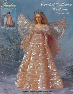 Paradise Crochet Pattern Doll Costume 1495 Fairytale Renaissance Princess P 091 | eBay