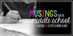 Literally the best thing for middle school ELA!!!  Musings from the Middle School