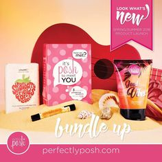 Unsure where to start? Pick up a Posh to Meet You set for just $19 and save three bucks! This bundle includes our Strawberry Fields Forever Chunk Bar ($9 value), Good Vibes Big Fat Yummy Hand Creme ($9 value), and our Santa Monica Smooth Lip Balm ($4 value) CHECK IT OUT... https://www.perfectlyposh.com/ordernow/products/kits  STRAWBERRY FIELDS CHUNK - Take yourself to picturesque strawberry fields during each shower or bath. Scrub up with strawberry seeds and zesty lime in a Rainforest…