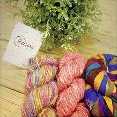 Trapillo de seda Rosas Crafts http://www.themarketcrafts.com/materials/punto-y-ganchillo/fibras-recicladas