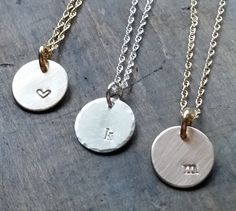 Delicate Offset Initial Necklace Gold or silver by thefyshstore