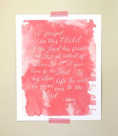Nursery Bible Verse Art