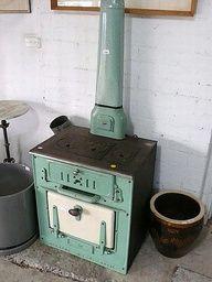Antique wood burning stove
