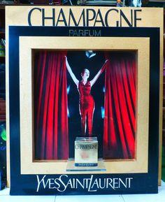 """Rare Collector Présentoir Parfum """"Champagne"""" DE Yves Saint Laurent   eBay"""