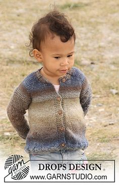 DROPS Baby - Knitted jacket with raglan for baby and children in 2 threads DROPS Delight Baby Patterns, Knitting Patterns Free, Free Knitting, Baby Knitting, Free Pattern, Baby Cardigan, Cardigan Bebe, Knit Cardigan, Drops Design