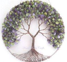 Peridot lila árbol colgante sol Catcher en por HomeBabyCrafts