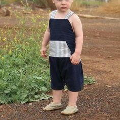 Barefoot Romper ~ gender neutral by Twig Tale Romper Pattern, Best Stretches, Pdf Sewing Patterns, Clothes Patterns, Light Denim, Gender Neutral, Barefoot, Different Fabrics, Boy Or Girl