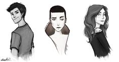 The Dauntless Borns Uriah, Lynn and marlene. by serayph.deviantart.com on @deviantART