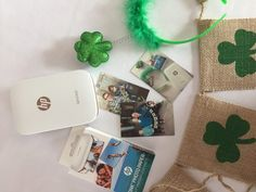 Easy St. Patty's Day Photo Booth | The HP Sprocket makes the easiest photo booth! No ink needed – just your phone, the HP Sprocket, and your friends!