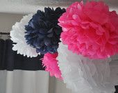6 Nursery Tissue Poms- Your color choice- Sale. $24.00, via Etsy.