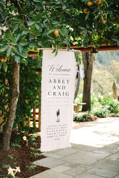 So excited to finally share this wedding with you! I printed this wedding welcome sign on frayed linen, hung from a driftwood branch, with hemp cording dangling a series of feathers off to the side Entrance Signage, Reception Entrance, Reception Signs, Wedding Signage, Wedding Banners, Event Signage, Wedding Cards, Diy Wedding, Ikea Wedding