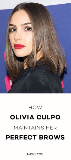 How to get brows like Olivia Culpo #weddinghairstyles