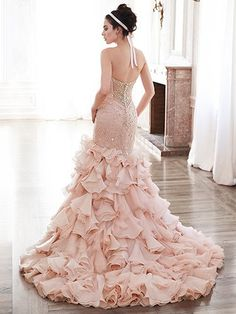 2016 Wedding Dress Trends: Blush Gowns. Serencia by Maggie Sottero