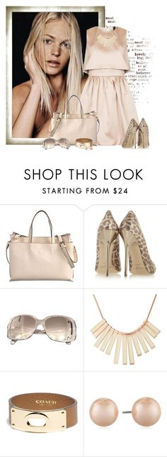 """""""Untitled #2150"""" by johnna-cameron ❤ liked on Polyvore featuring Jimmy Choo, Chanel, Marc by Marc Jacobs, Coach and Carolee"""