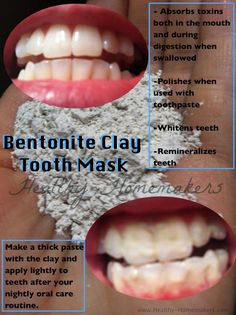 Bentonite Clay Tooth Mask