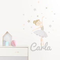 decoracion pared vinilo infantil habitacin infantil infantiles bailarinas vinilos dormitorios gris bebe